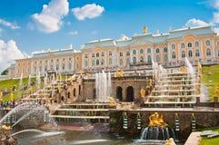 Μεγάλος καταρράκτης σε Petergof, Αγία Πετρούπολη, Ρωσία Στοκ φωτογραφία με δικαίωμα ελεύθερης χρήσης