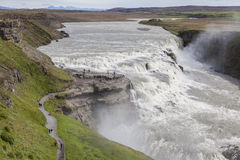 Μεγάλος καταρράκτης στην Ισλανδία Στοκ Φωτογραφία