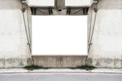 Μεγάλος κενός πίνακας διαφημίσεων σε έναν τοίχο οδών Στοκ φωτογραφία με δικαίωμα ελεύθερης χρήσης