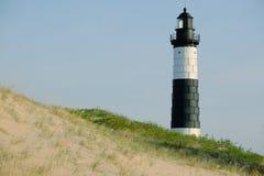 Μεγάλος κοκκώδης φάρος σημείου στους αμμόλοφους, που χτίζονται το 1867 στοκ φωτογραφία με δικαίωμα ελεύθερης χρήσης