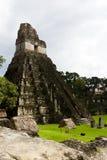 Μεγάλος ναός ιαγουάρων, Tikal, Γουατεμάλα Στοκ Φωτογραφία