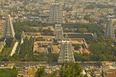 Μεγάλος ναός σε Tiruvanumalai, Tamilnadu, Ινδία Στοκ Φωτογραφίες