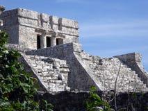 Μεγάλος ναός στη των Μάγια περιοχή Tulum Archeological Στοκ εικόνα με δικαίωμα ελεύθερης χρήσης