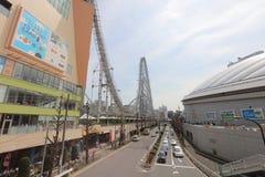 Μεγάλος-ο & x28 Ferris wheel& x29  στην έλξη πόλεων θόλων του Τόκιο Στοκ εικόνες με δικαίωμα ελεύθερης χρήσης