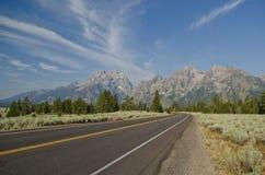 Μεγάλος δρόμος πάρκων Teton εθνικός Στοκ Φωτογραφίες