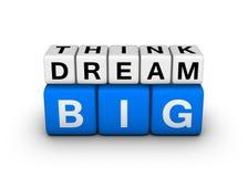 Μεγάλος σκεφτείτε το μεγάλο όνειρο διανυσματική απεικόνιση