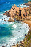 Μεγάλος σχηματισμός βράχου Cabo DA Roca, Κασκάις, Πορτογαλία Στοκ φωτογραφίες με δικαίωμα ελεύθερης χρήσης