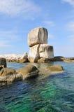 Μεγάλος σωρός αψίδων πετρών κάτω από το φως ήλιων Στοκ Φωτογραφίες