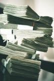 Μεγάλος σωρός των χρημάτων μετρητών στοκ φωτογραφία