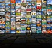 Μεγάλος τηλεοπτικός τοίχος της οθόνης TV Στοκ Εικόνα