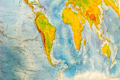 Μεγάλος χάρτης του κόσμου Στοκ φωτογραφία με δικαίωμα ελεύθερης χρήσης