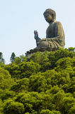Μεγάλο άγαλμα ναών του Βούδα, νησί Lantau, Χονγκ Κονγκ Στοκ Εικόνα
