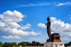 Μεγάλο άγαλμα του Βούδα στο phutthamonthon, Nakhon Pathom, Ταϊλάνδη Στοκ Φωτογραφία