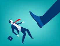 Μεγάλο λάκτισμα ποδιών επιχειρηματιών μικρά άτομα ελεύθερη απεικόνιση δικαιώματος