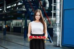 Μεγάλο άνοιγμα, κόκκινη κορδέλλα κοπής Στοκ φωτογραφία με δικαίωμα ελεύθερης χρήσης