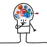Μεγάλο άτομο εγκεφάλου - εργαλείο και έννοια Στοκ φωτογραφίες με δικαίωμα ελεύθερης χρήσης