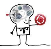Μεγάλο άτομο εγκεφάλου - εργαλείο και έννοια Στοκ Εικόνες