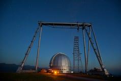 Μεγάλο αζιμούθιο τηλεσκοπίων BTA σε Arkhyz Στοκ Εικόνες