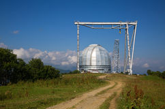 Μεγάλο αζιμούθιο τηλεσκοπίων BTA σε Arkhyz Στοκ Φωτογραφίες