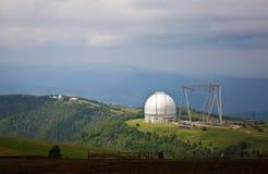 Μεγάλο αζιμούθιο τηλεσκοπίων BTA σε Arkhyz Στοκ Φωτογραφία