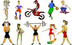 Μεγάλο αθλητικό σύνολο απεικόνιση αποθεμάτων