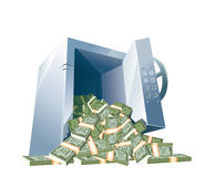 Μεγάλο ανοιγμένο χρηματοκιβώτιο τραπεζών Στοκ Φωτογραφία