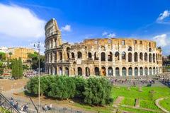 μεγάλο αρχαίο Colosseum, Ρώμη Στοκ Εικόνες