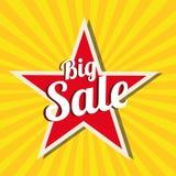Μεγάλο αστέρι πώλησης ελεύθερη απεικόνιση δικαιώματος