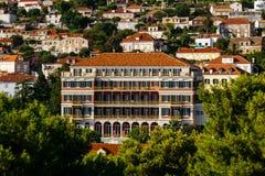 Μεγάλο αυτοκρατορικό ξενοδοχείο Hilton σε Dubrovnic, Κροατία Στοκ Εικόνα