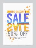 Μεγάλο αφίσα πώλησης, έμβλημα ή σχέδιο ιπτάμενων Στοκ Εικόνες