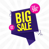 Μεγάλο αφίσα πώλησης, έμβλημα ή σχέδιο ιπτάμενων Στοκ εικόνα με δικαίωμα ελεύθερης χρήσης
