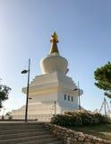 Μεγάλο βουδιστικό μνημείο στο Διαφωτισμό που περιέχει μια αίθουσα περισυλλογής & μια σειρά ιερών αντικειμένων Στοκ Εικόνα
