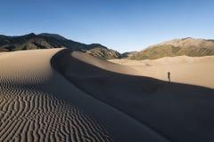 Μεγάλο εθνικό πάρκο αμμόλοφων άμμου, Κολοράντο, ΗΠΑ Στοκ εικόνες με δικαίωμα ελεύθερης χρήσης