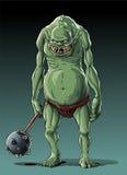 Μεγάλο λεπτό troll (orc) Στοκ Φωτογραφίες