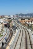 Μεγάλο εργοτάξιο οικοδομής στη Βαρκελώνη Στοκ Εικόνες