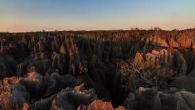 Μεγάλο ηλιοβασίλεμα Tsingy timelapse απόθεμα βίντεο