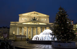 Μεγάλο θέατρο στα Χριστούγεννα, Μόσχα Στοκ εικόνες με δικαίωμα ελεύθερης χρήσης