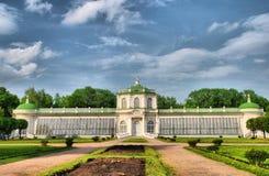 ` Μεγάλο θερμοκήπιο ` στο πάρκο Kuskovo, Μόσχα πετρών Στοκ φωτογραφία με δικαίωμα ελεύθερης χρήσης