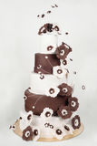 Μεγάλο κέικ στο λευκό Στοκ φωτογραφία με δικαίωμα ελεύθερης χρήσης