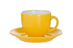 Μεγάλο κίτρινο φλυτζάνι σούπας Στοκ Φωτογραφία