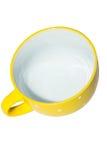 Μεγάλο κίτρινο φλυτζάνι Στοκ εικόνα με δικαίωμα ελεύθερης χρήσης