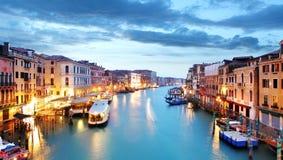 Μεγάλο κανάλι - Βενετία από τη γέφυρα Rialto Στοκ Φωτογραφία