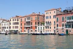 Μεγάλο κανάλι Βενετία, Βένετο, Ιταλία Το traghetto σε Sa Στοκ Εικόνα