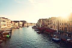 Μεγάλο κανάλι, Βενετία, Ιταλία - κανάλι Grande Στοκ φωτογραφία με δικαίωμα ελεύθερης χρήσης