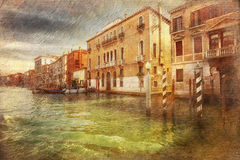 Μεγάλο κανάλι Βενετία Ιταλία Στοκ Εικόνα