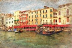 Μεγάλο κανάλι Βενετία Ιταλία Στοκ Φωτογραφίες