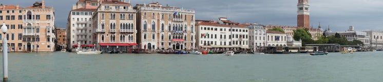 Μεγάλο κανάλι στη Βενετία Ιταλία, φωτογραφία panorami Στοκ φωτογραφίες με δικαίωμα ελεύθερης χρήσης