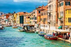 Μεγάλο κανάλι στη Βενετία, Ιταλία Στοκ εικόνα με δικαίωμα ελεύθερης χρήσης