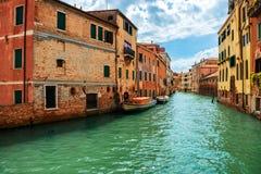 Μεγάλο κανάλι στη Βενετία, Ιταλία Στοκ εικόνες με δικαίωμα ελεύθερης χρήσης
