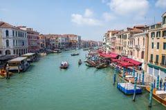 Μεγάλο κανάλι στη Βενετία, Ιταλία Στοκ φωτογραφία με δικαίωμα ελεύθερης χρήσης